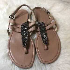Vera Wang Crystal Embellished bridal sandals
